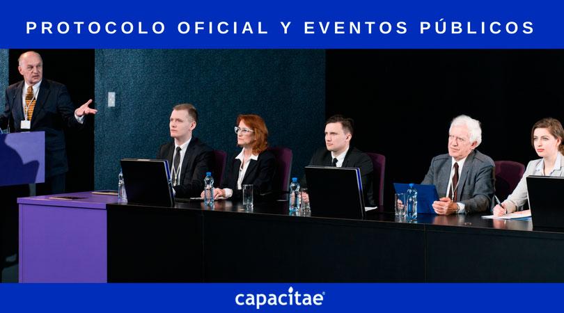 Curso de Protocolo Oficial y Organización de Eventos Públicos impartido por Capacitae