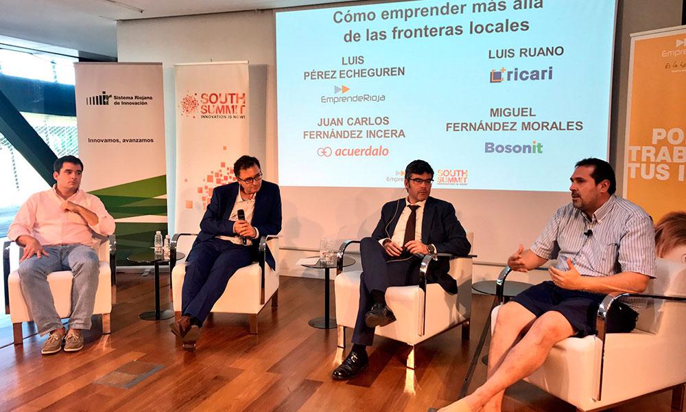 Mesa redonda durante la fase regional de la Spain StartUp en La Rioja