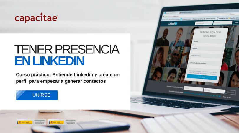 Curso para entender y crearse un perfil en Linkedin para empezar a hacer contactos