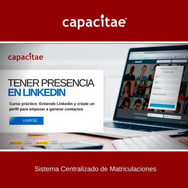 Matriculación Online Acciones Formativas de Capacitae - Curso de Linkedin