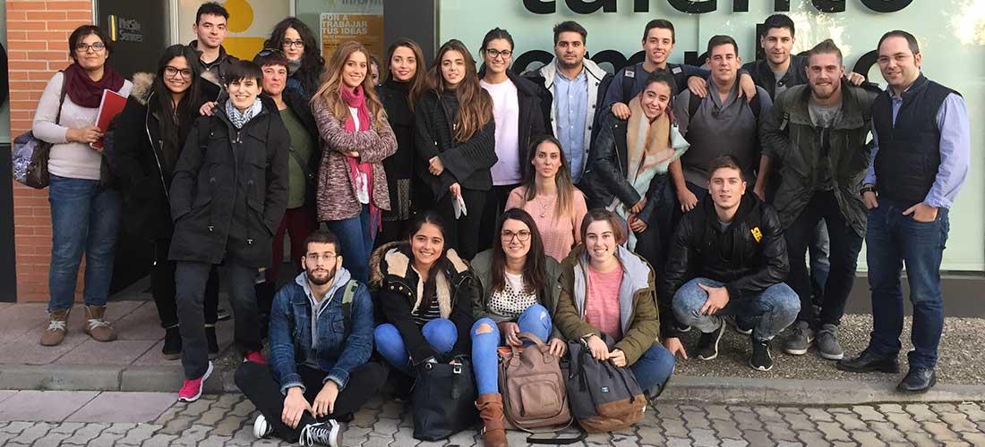 Estudiantes de Trabajo Social de la Universidad de La Rioja visitan el Centro de Formación, Talento y Empleo de La Rioja, de Capacitae