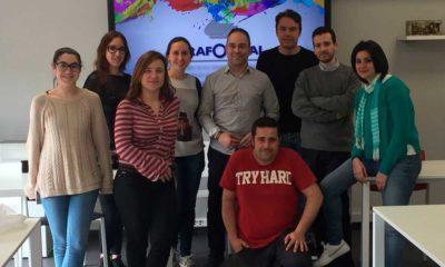 Participantes de la Aceleradora de Empleo 2017/2018 en la empresa riojana Grafometal
