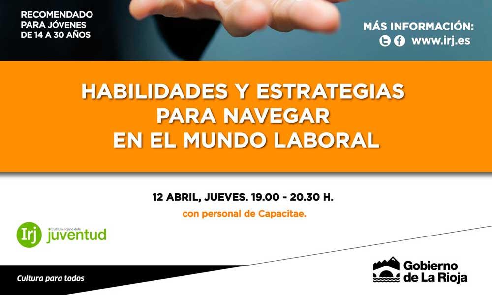 Cartel delas Quedas de Primavera del IRJ en Logroño